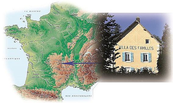 Villa des Familles en Auvergne, Massif Central, le Sancy